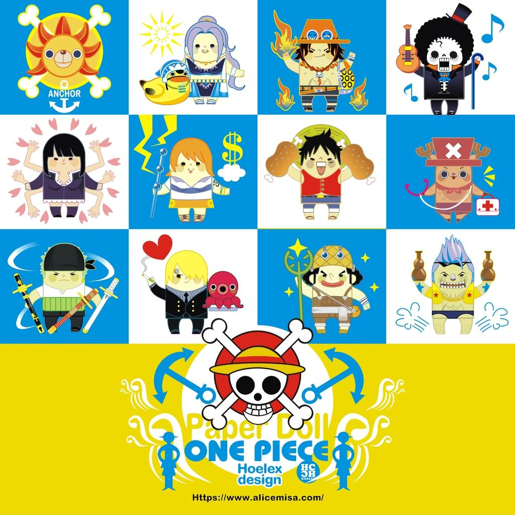 ★【Paper Doll紙公仔Hoelex創作】心夢公仔玩具版【海賊王ONE PIECE】