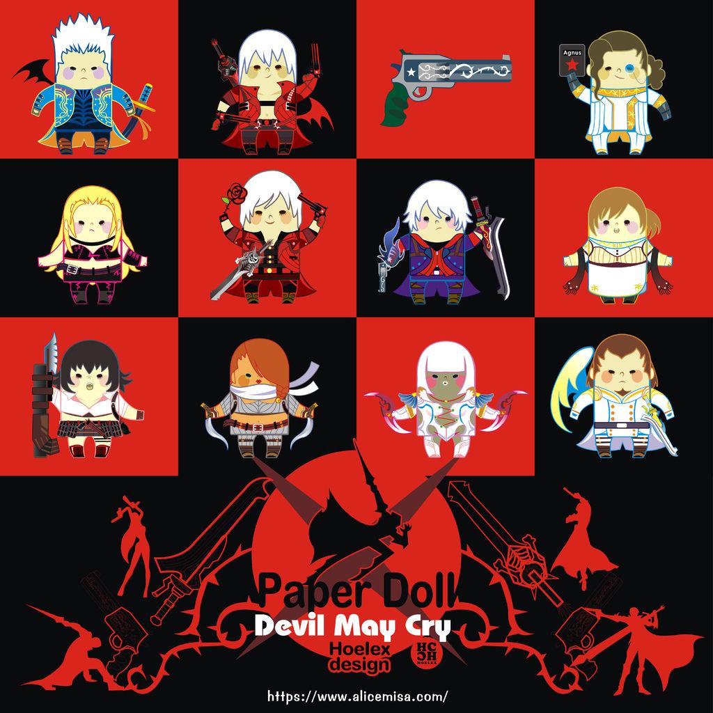 ★【Paper Doll紙公仔Hoelex創作】心夢公仔玩具版【惡魔獵人DEVIL MAY CRY 】