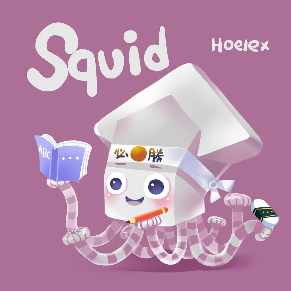 DODO ZOO方塊動物-Squid 魷魚必勝-hoelex07.jpg