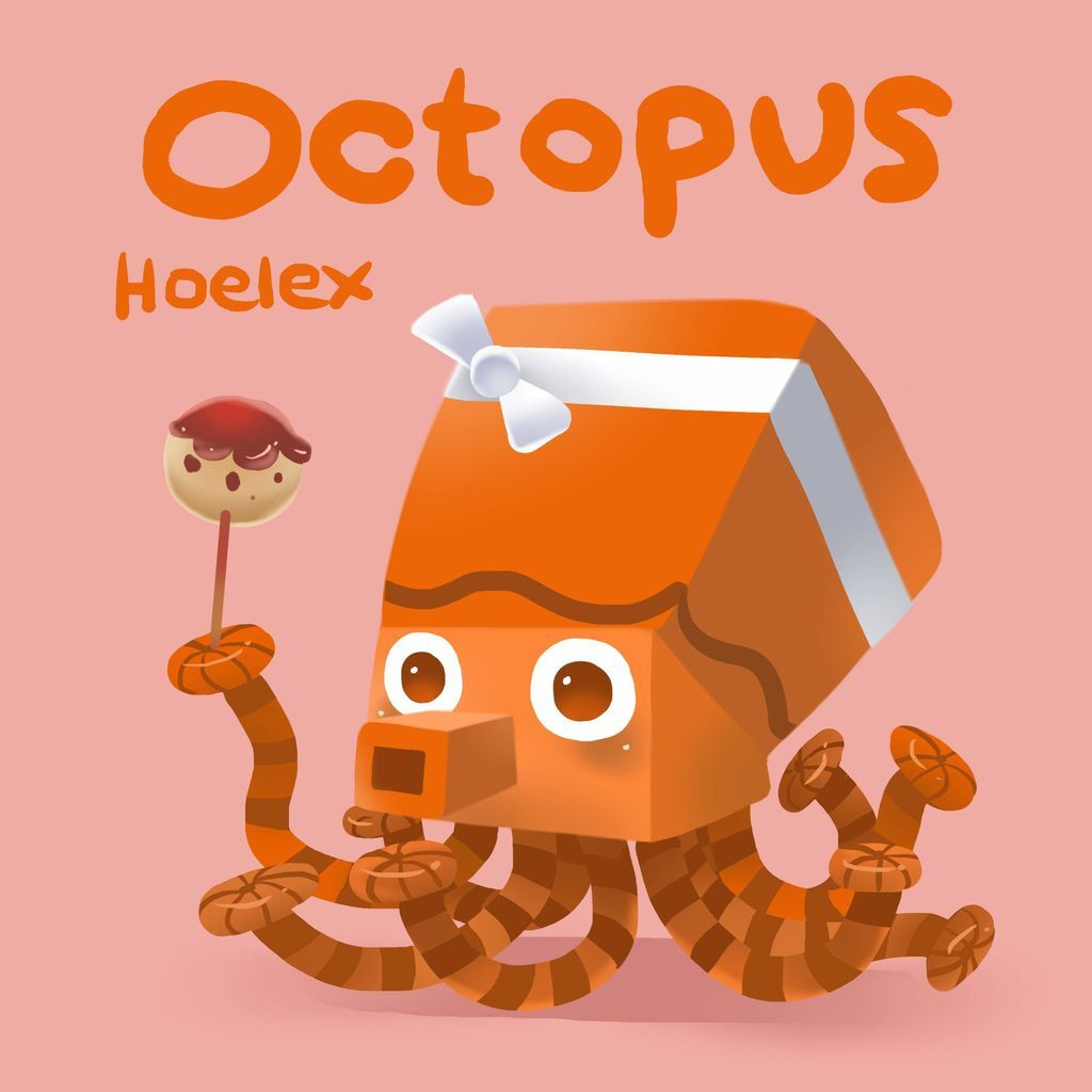 DODO ZOO方快動物-Octopus 章魚燒燒-hoelex10.jpg