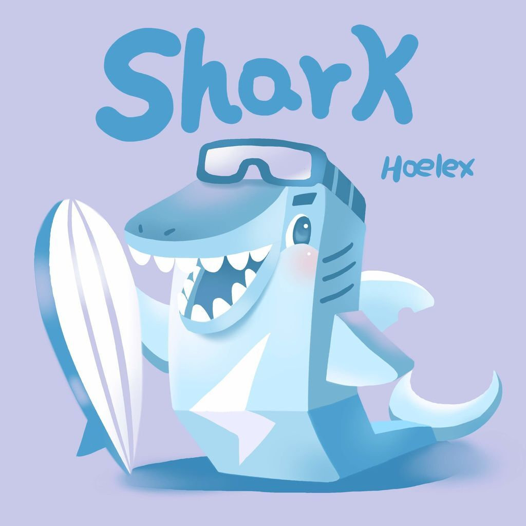 DODO ZOO 方塊動物-Shark鯊魚衝浪板-hoelex.jpg
