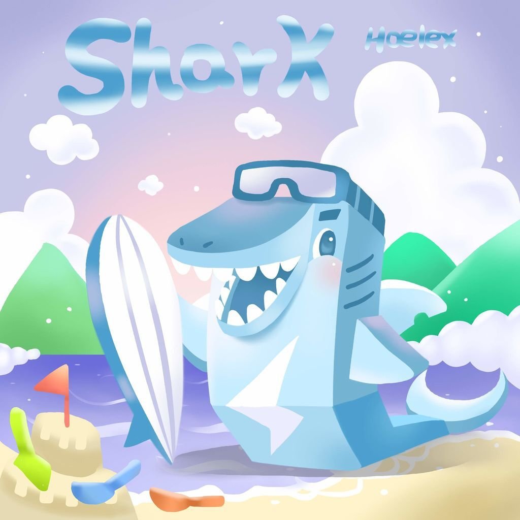 DODO ZOO 方塊動物-Shark鯊魚衝浪板-hoelex(背景).jpg