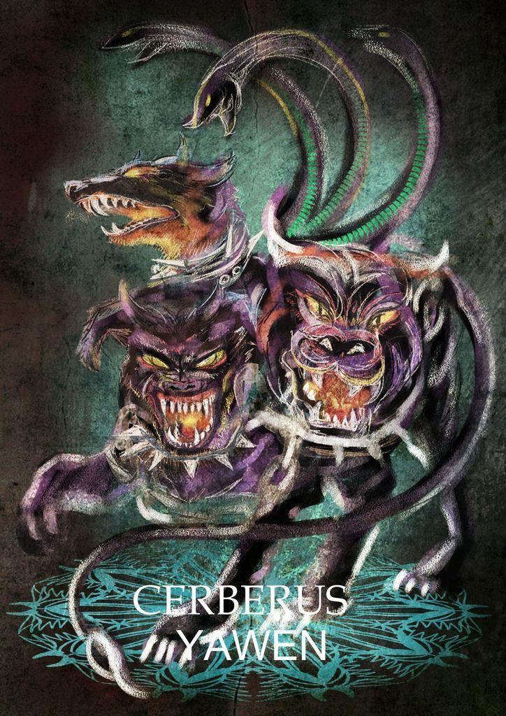 神奇守護幻獸-希臘神獸地獄三頭犬-刻耳柏洛斯Cerberus-YAWEN.jpg