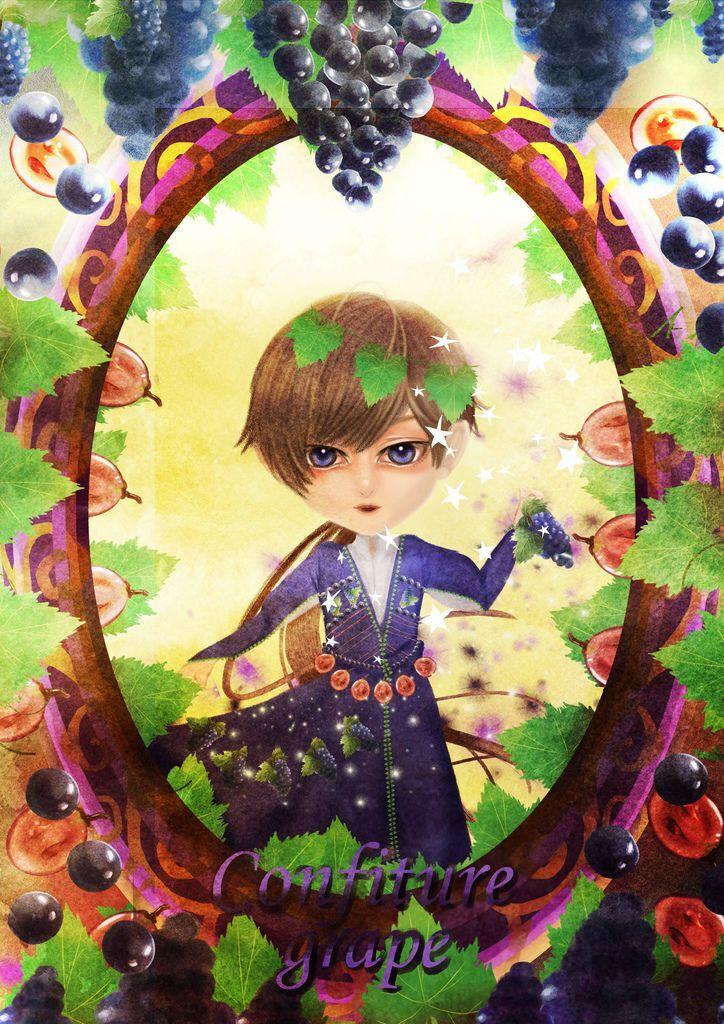 ★【水果果醬畫框Confiture系列】葡萄grape-shiny.jpg