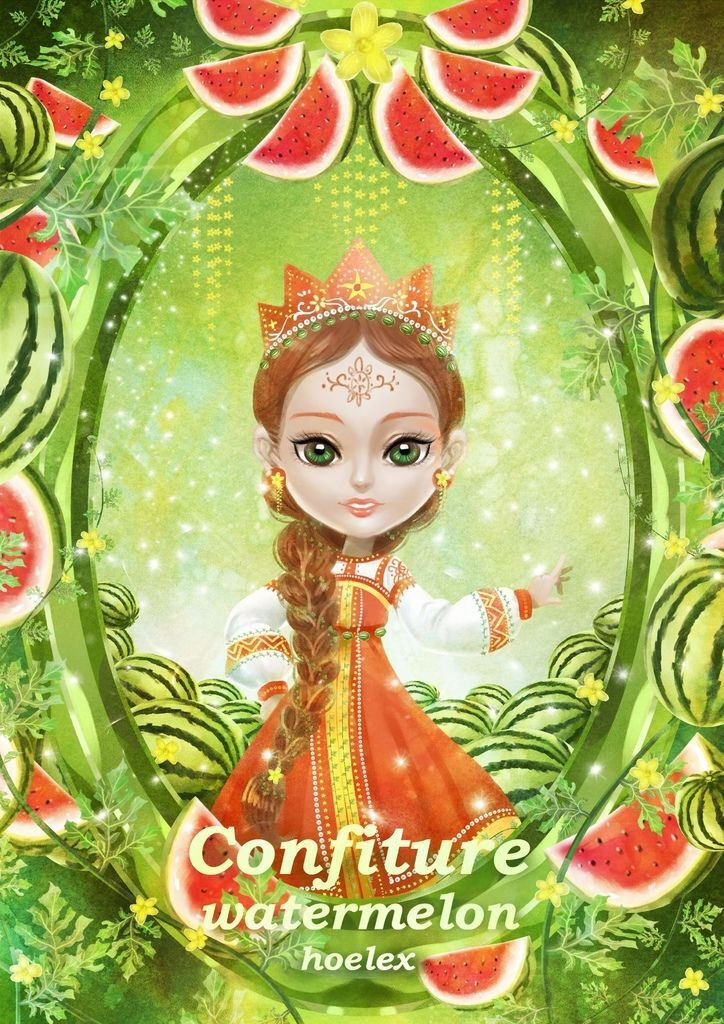 ★【水果果醬畫框Confiture系列】西瓜watermelon-hoelex31.jpg