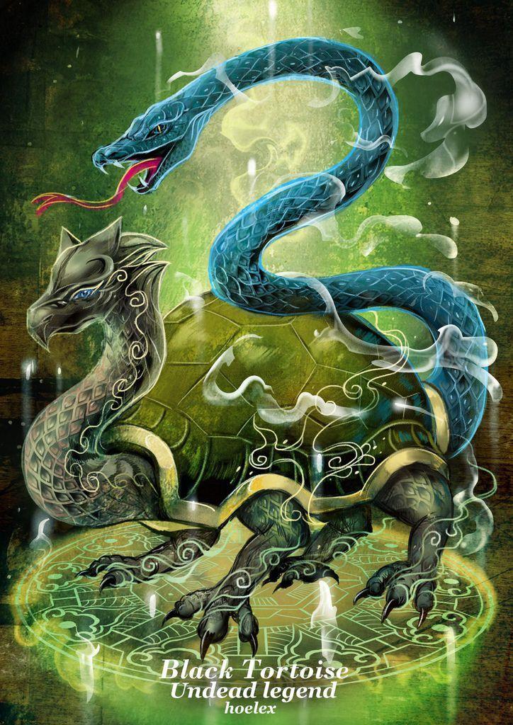神奇守護幻獸-召喚魔法生物-北方黑水玄武Black Tortoise-hoelex.jpg