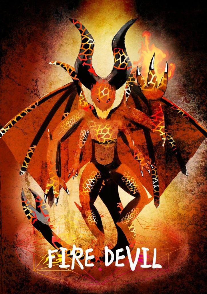 神奇守護幻獸-召喚魔法生物-火焰惡魔-吳子權.jpg