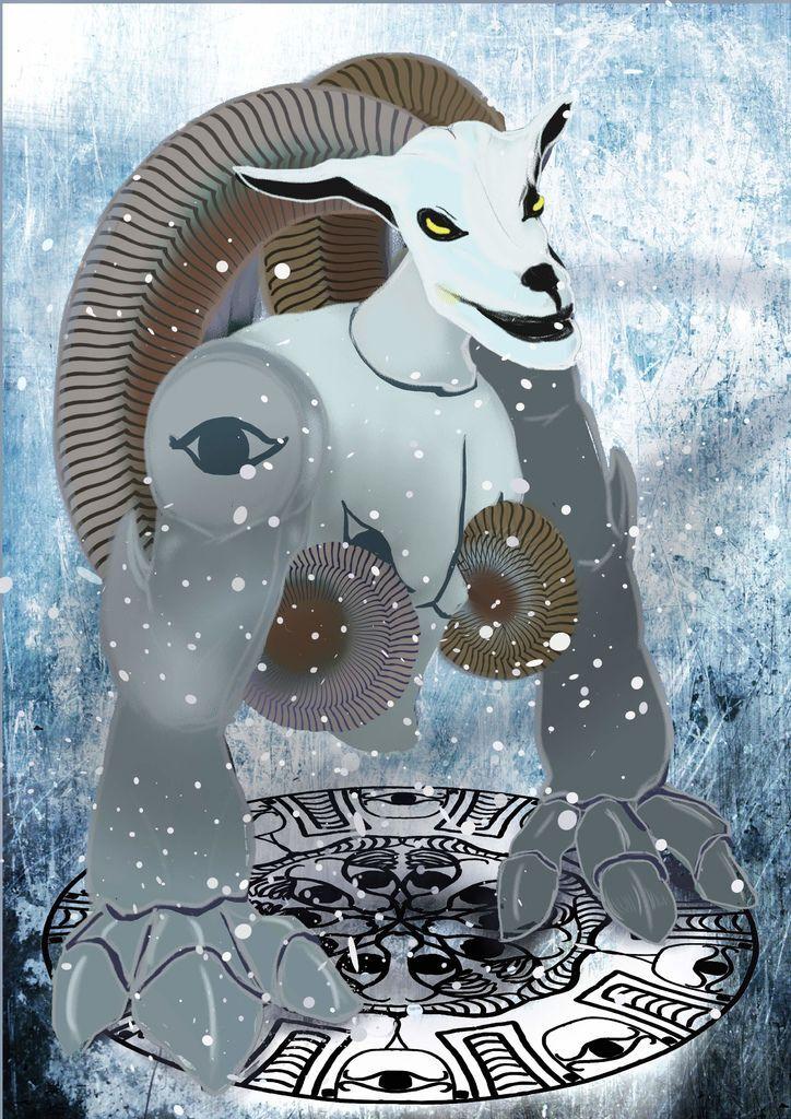 神奇守護幻獸-召喚魔法生物-機械羊(雪系)-婁丹雲.jpg