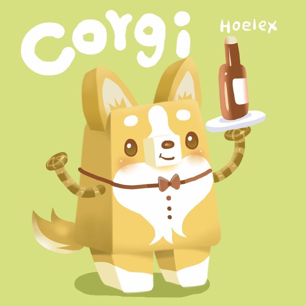 DODO ZOO 方塊動物-Corgi柯基犬-hoelex.jpg