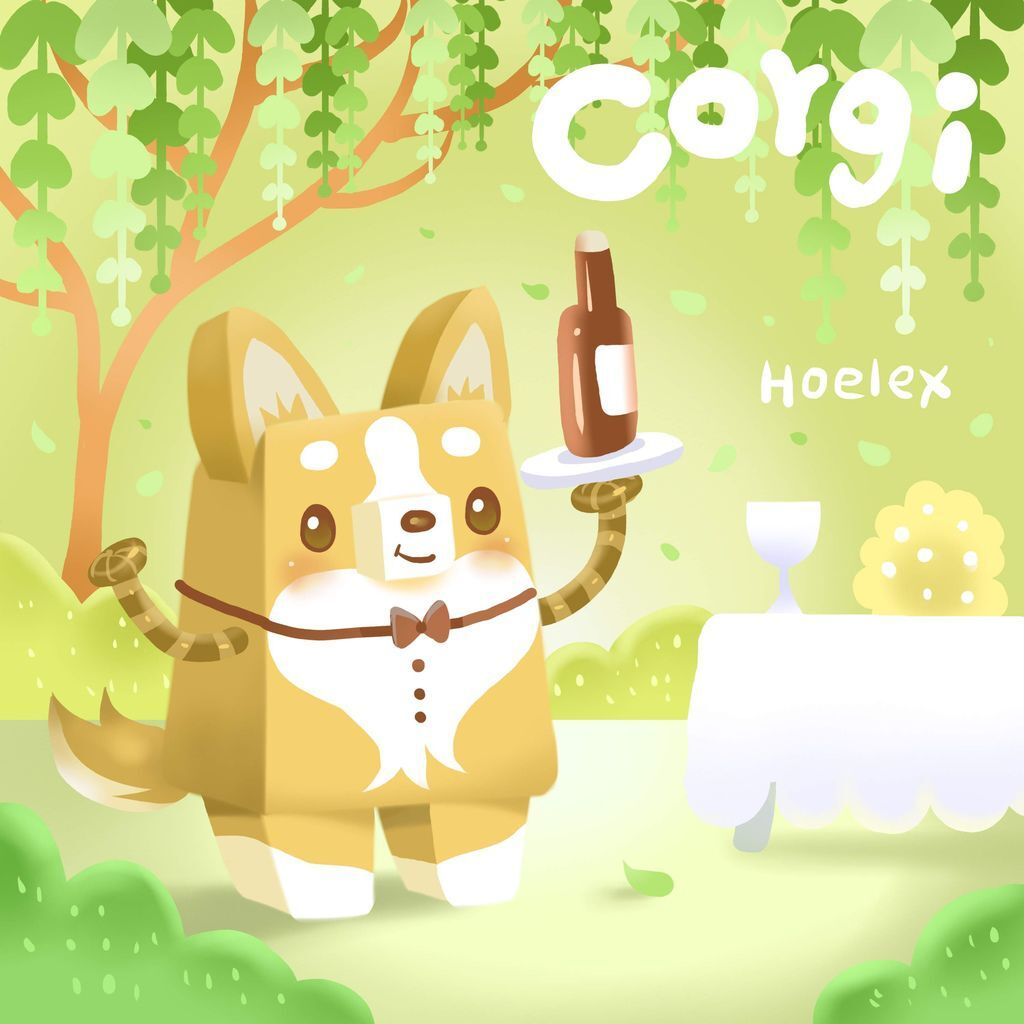 DODO ZOO 方塊動物-Corgi柯基犬-hoelex(背景).jpg