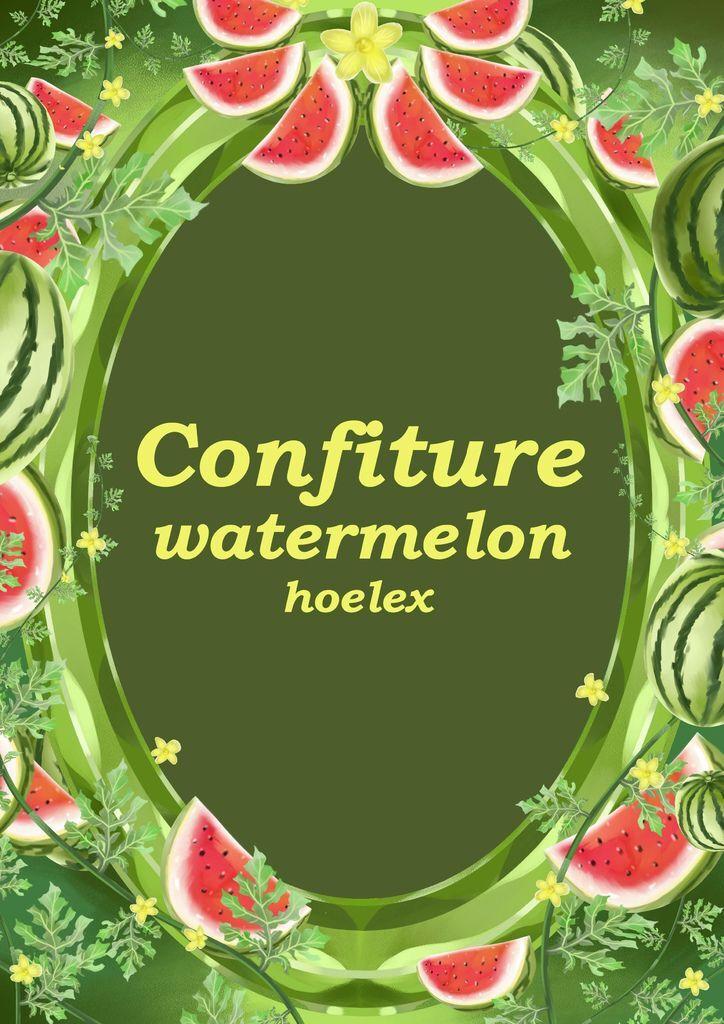 ★【水果果醬畫框Confiture系列】西瓜watermelon-hoelex(素框).jpg