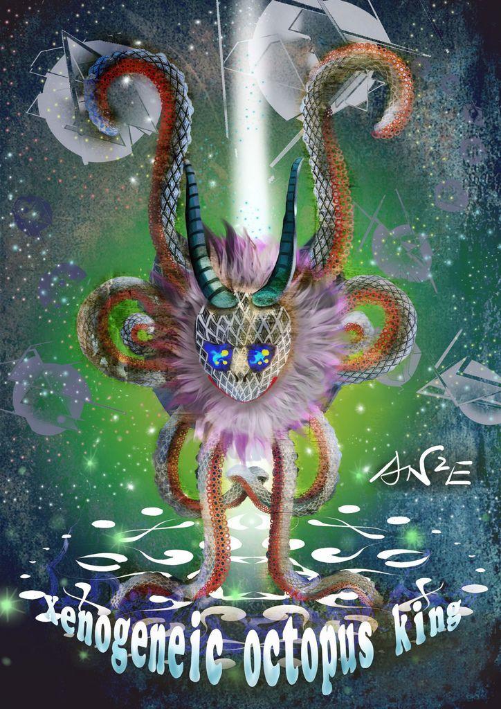 神奇守護幻獸-召喚魔法生物-異種章魚王Xenogeneic octopus king-胡忠儉.jpg
