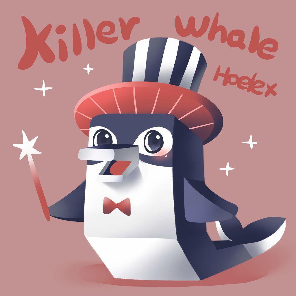 DODO ZOO 方塊動物-Killer Whale 虎鯨馬戲團長-hoelex.jpg