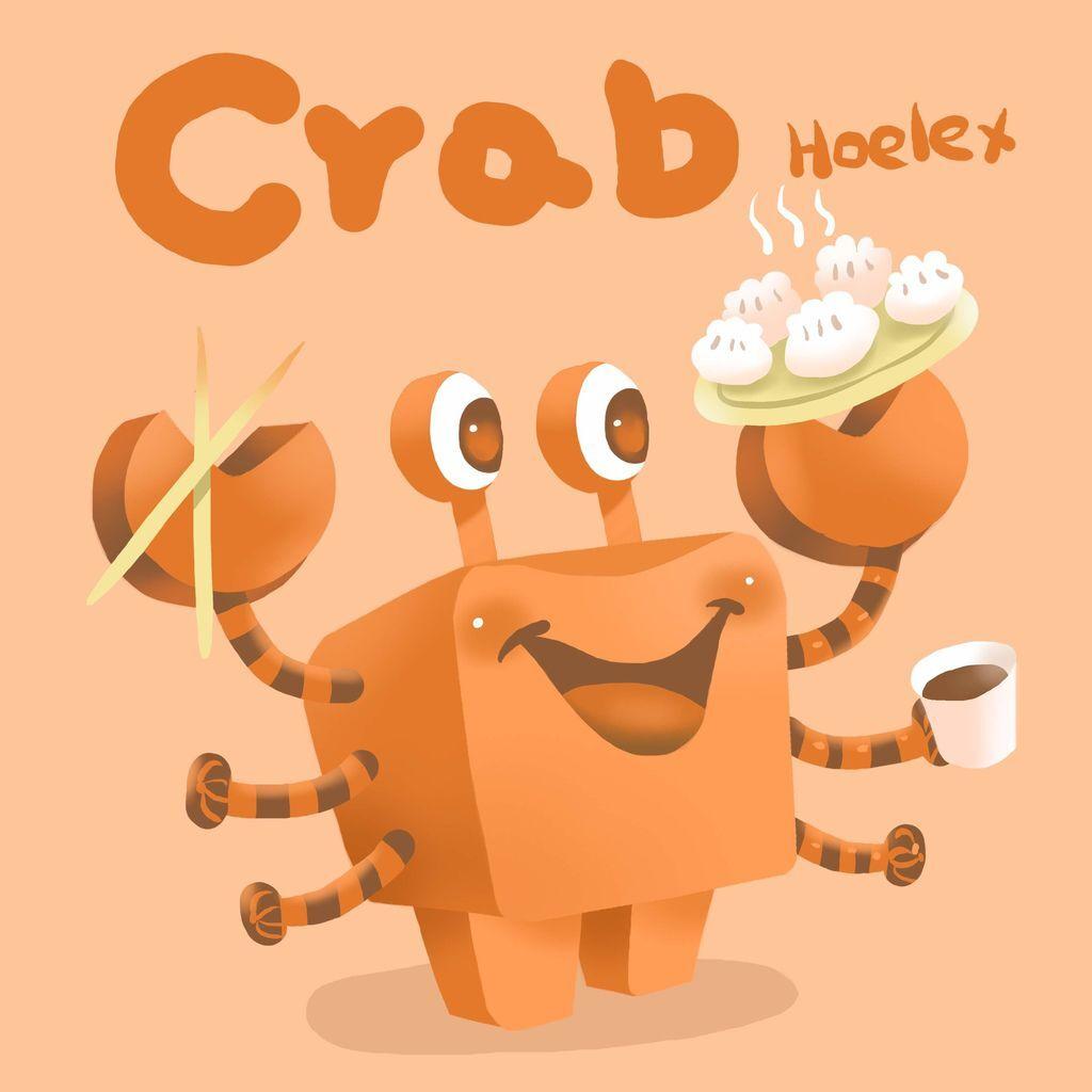 DODO ZOO 方塊動物-螃蟹水餃師Crab-hoelex.jpg