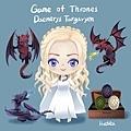 二等身Q版-《冰與火之歌:權力遊戲》Game of Thrones-丹妮莉絲·坦格利安Daenerys Targaryen-HOELEX.jpg