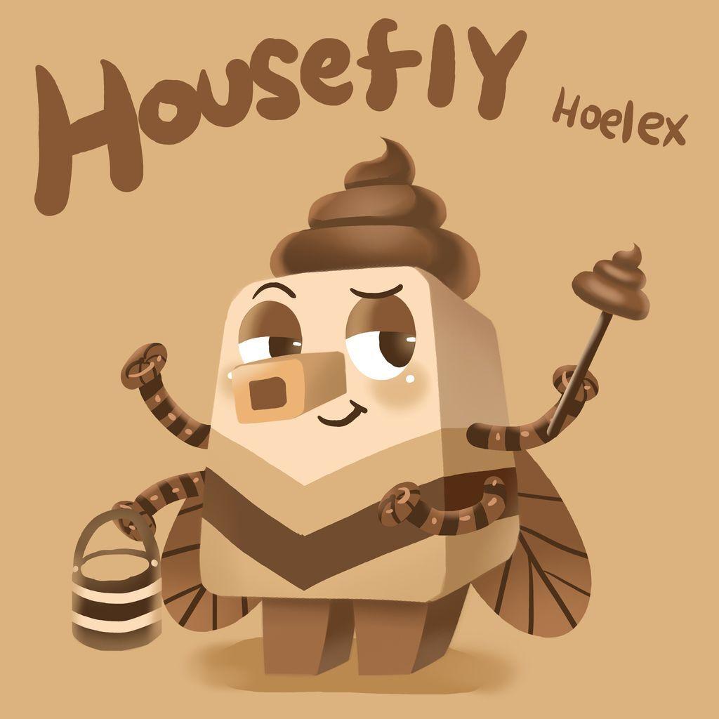 DODO ZOO 方塊動物-蒼蠅清糞員Housefly-hoelex.jpg