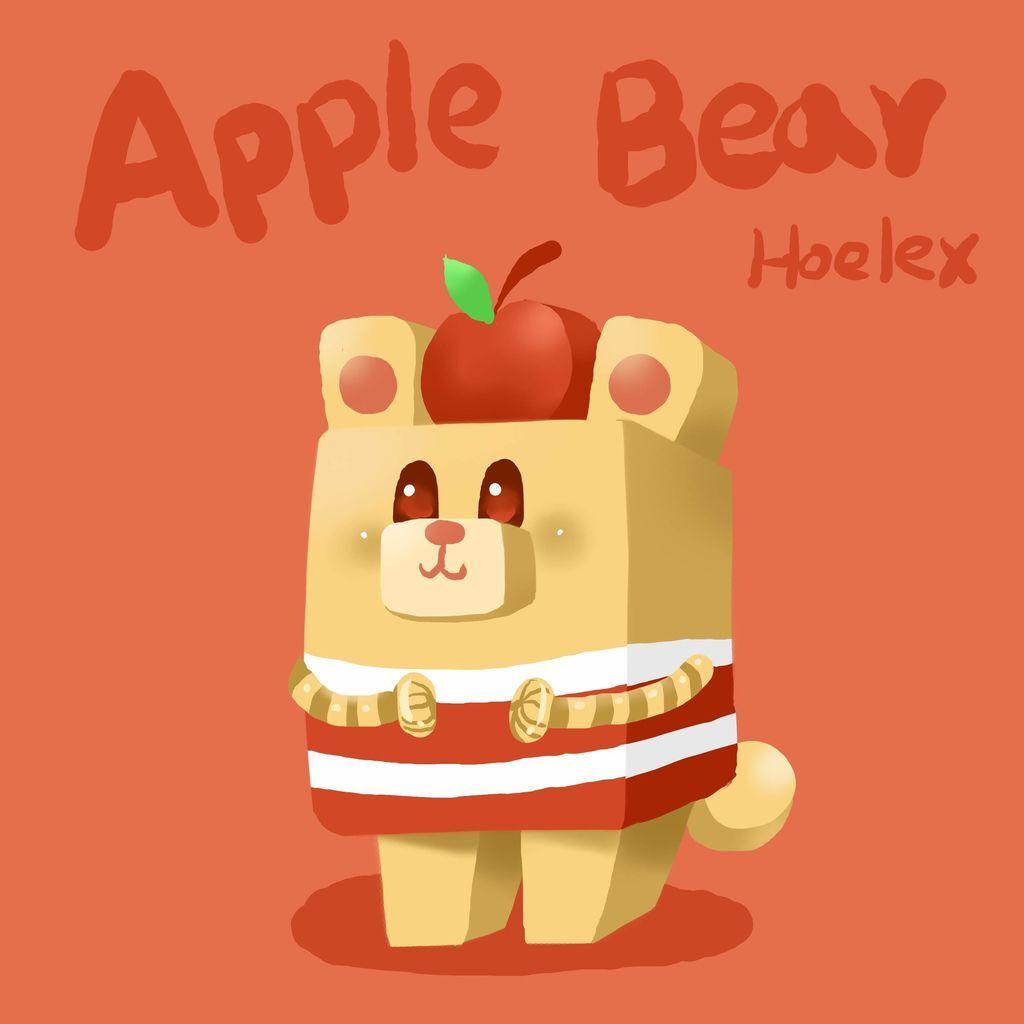 DODO ZOO 方塊動物-Apple Bear 蘋果熊-hoelex.jpg