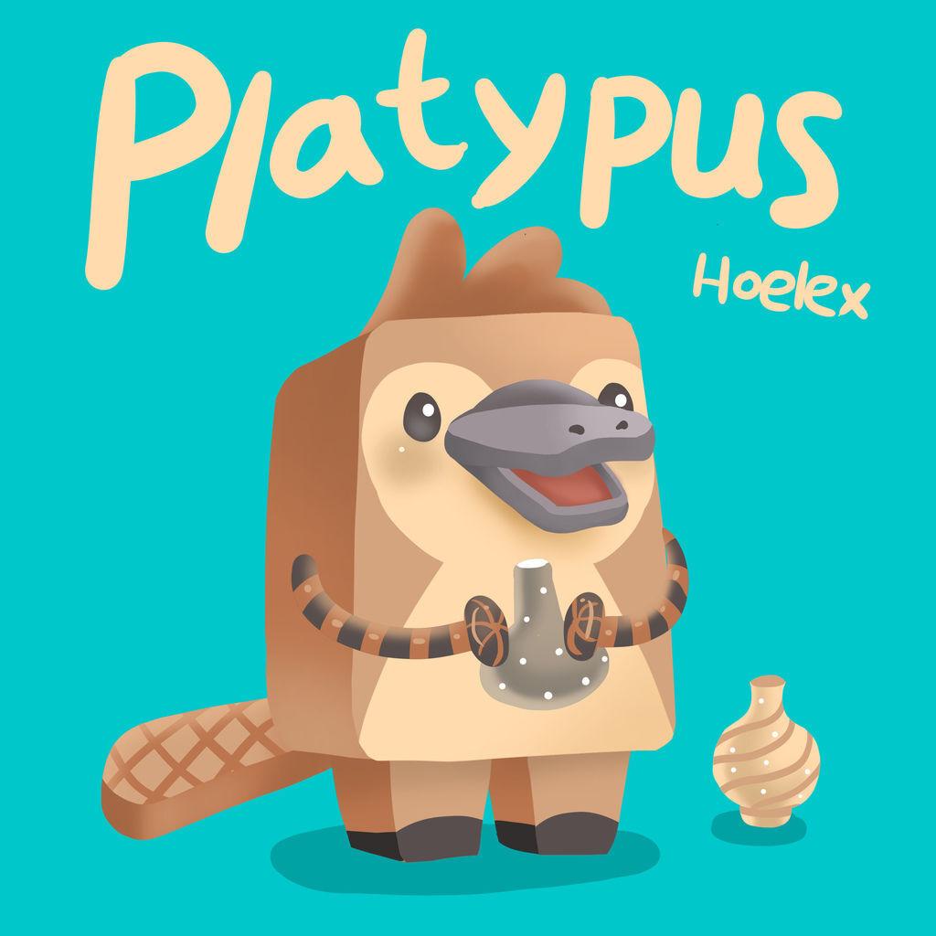 DODO ZOO方塊動物-Platypus鴨嘴獸陶藝家-Hoelex.jpg