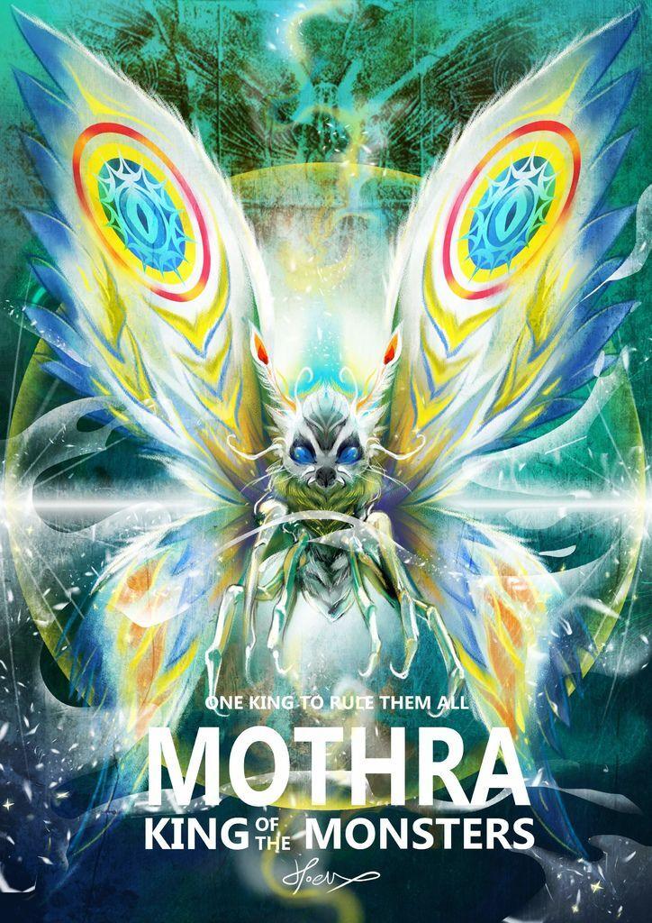 神奇守護幻獸-哥吉拉ゴジラGodzilla-摩斯拉 Mothra-hoelex.jpg