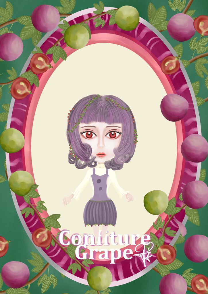 ★【水果果醬畫框Confiture系列】葡萄Grape-蔡庚志.jpg