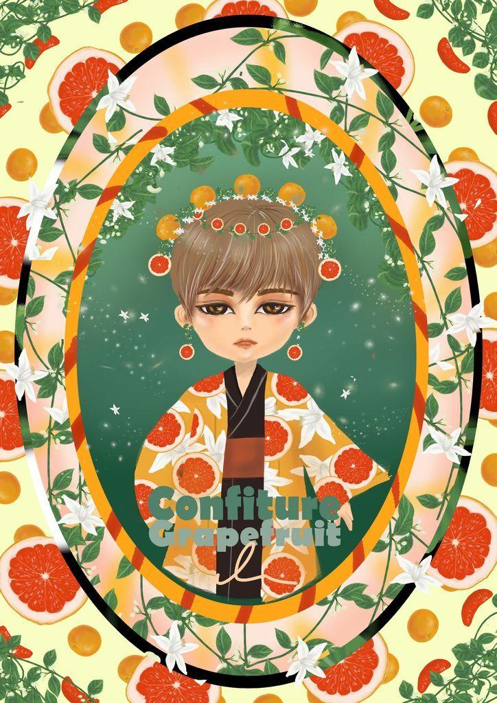 ★【水果果醬畫框Confiture系列】-葡萄柚grapefruit-張詠淇 角色版.jpg