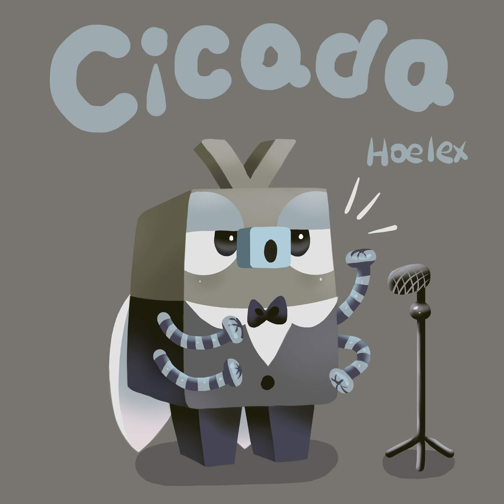 DODO ZOO 方塊動物-Cicada蟬聲樂家-hoelex.jpg