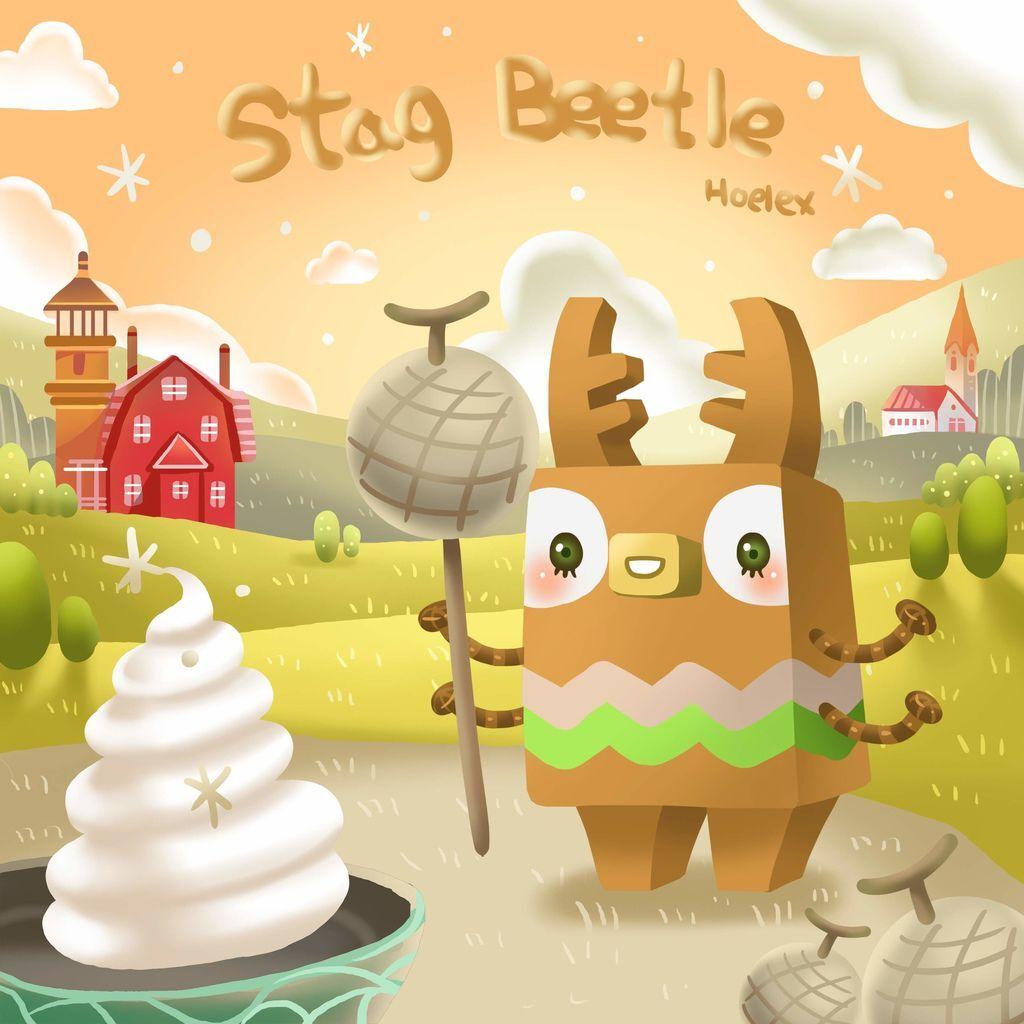 DODO ZOO 方塊動物-Stag Beetle鍬形蟲哈密瓜-hoelex(背景).jpg