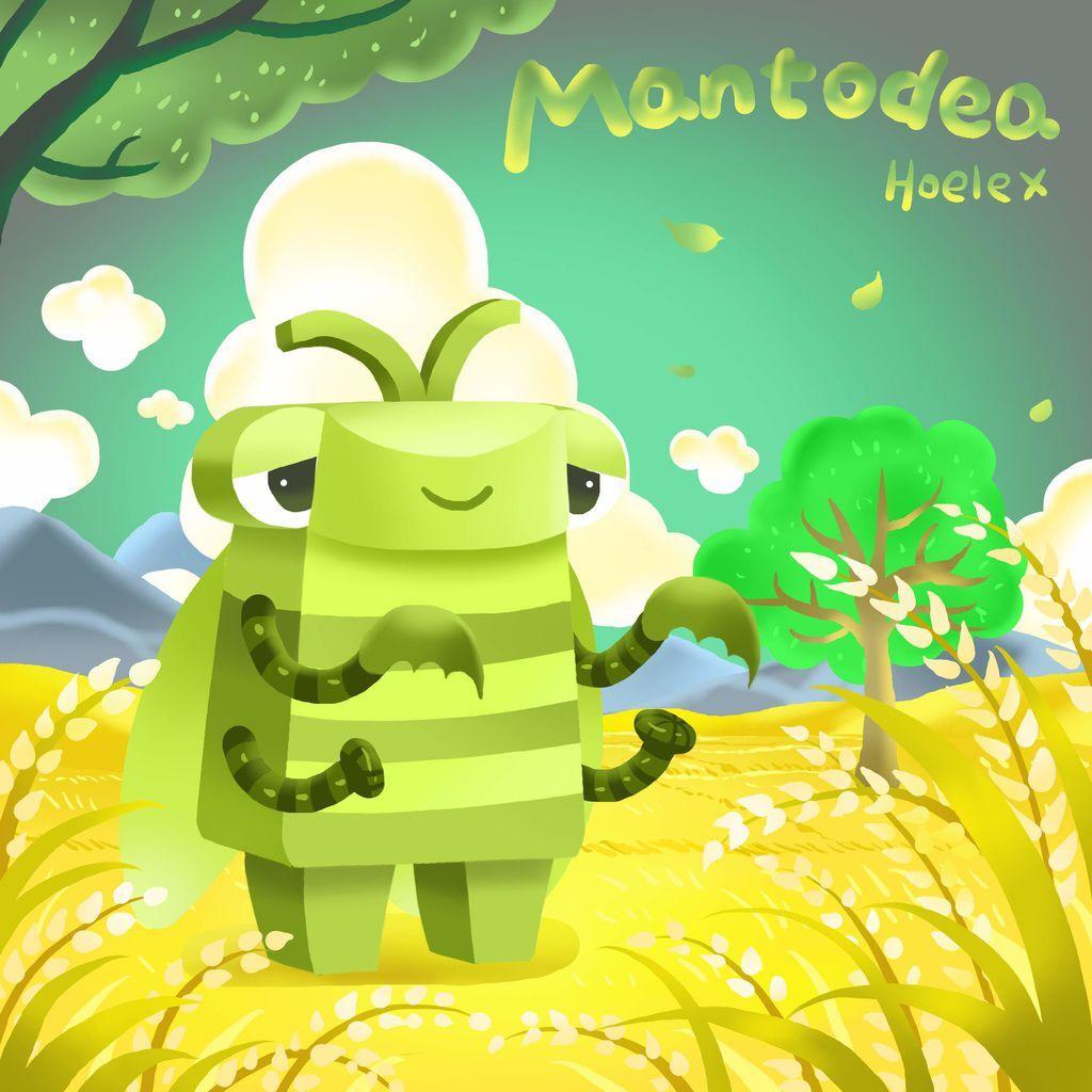 DODO ZOO 方塊動物-Mantodea螳螂鐮刀手-hoelex(背景).jpg