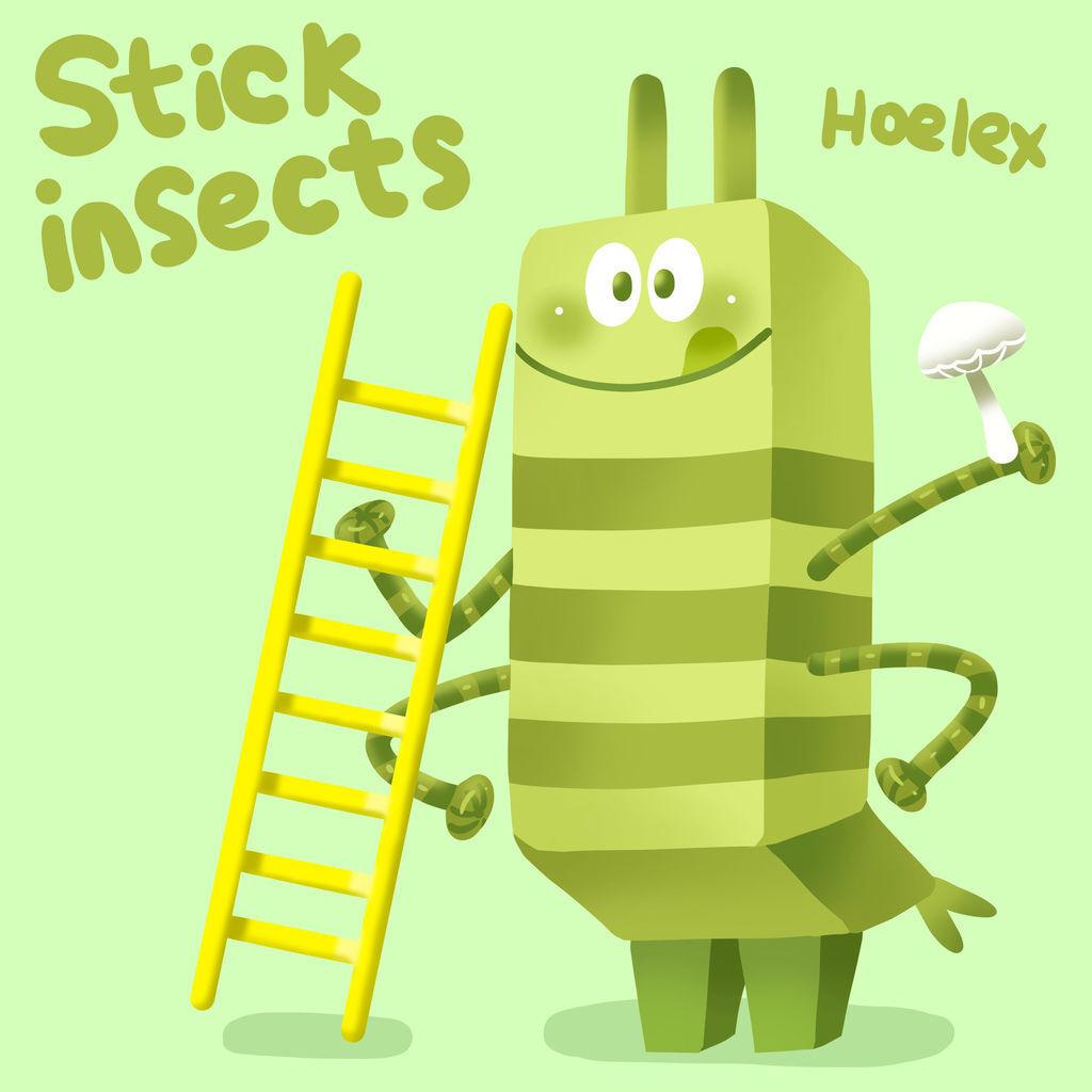 DODO ZOO 方塊動物-竹節蟲梯子工Stick insects-hoelex.jpg