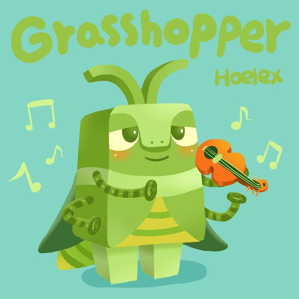 DODO ZOO 方塊動物-Grasshopper 蚱蜢小提琴家-hoelex.jpg