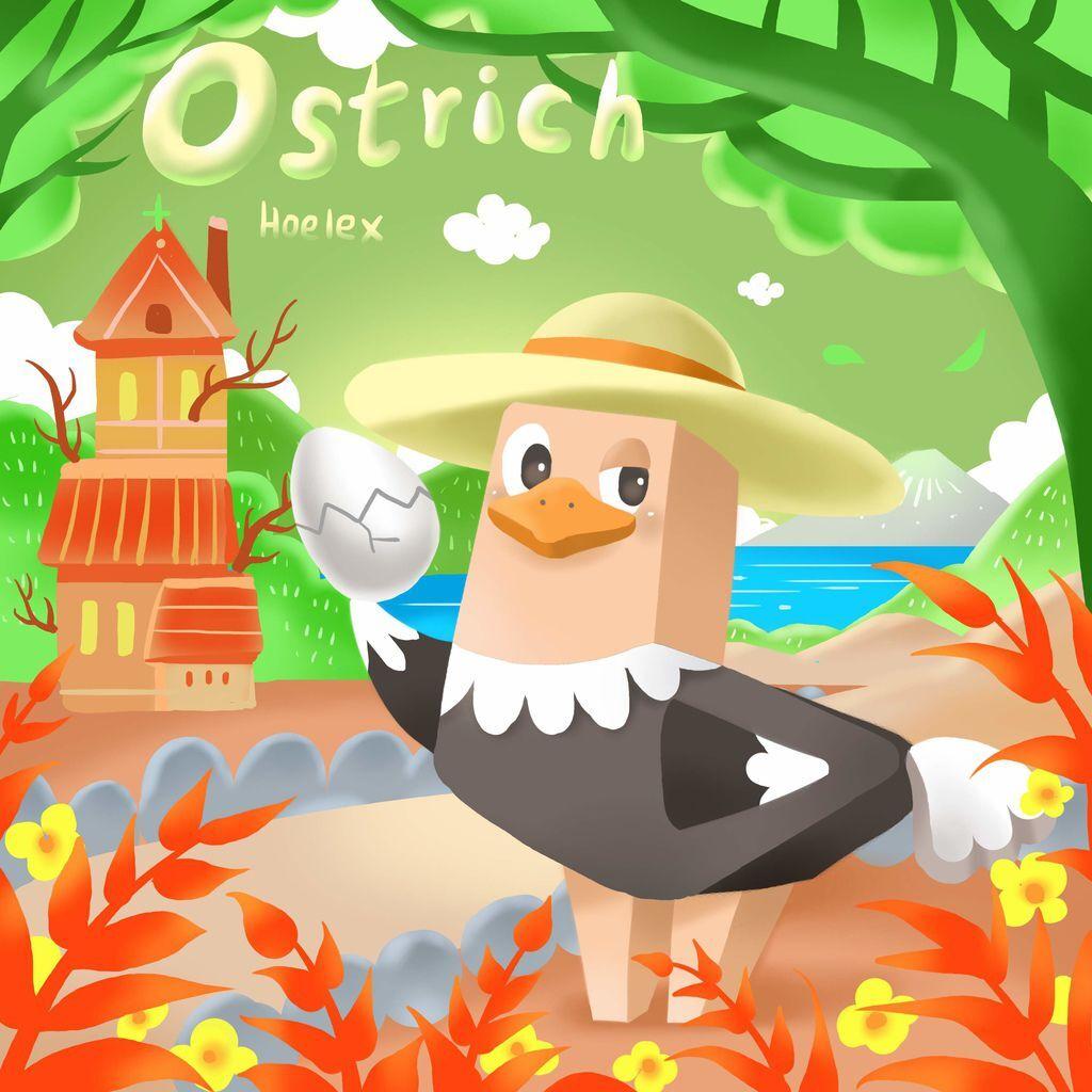 DODO ZOO 方塊動物-Ostrich鴕鳥孵化員-hoelex(背景).jpg