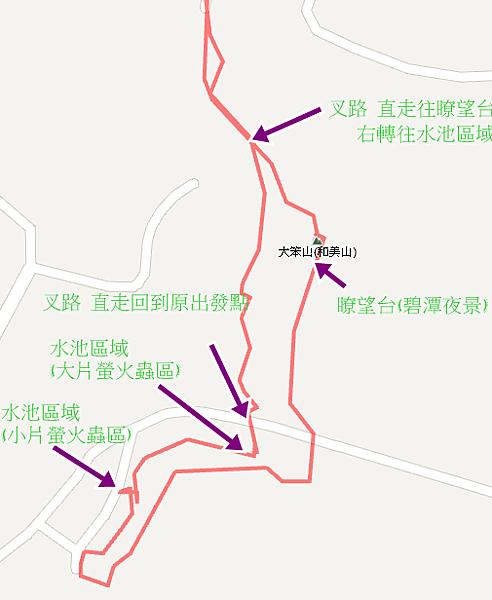 新店碧潭和美山螢火蟲路線圖02