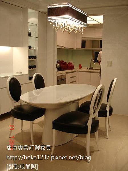 康康專業訂製家具-成品-黑白餐椅-1
