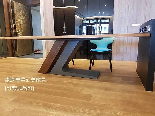 TL款型胡桃木餐桌-4