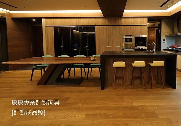 TL款型胡桃木餐桌-6
