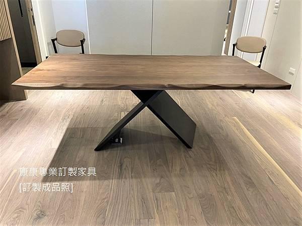 AX胡桃木餐桌L200D100-1.jpg