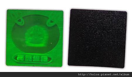 黑色膠使雷射圖紋可以清楚呈現