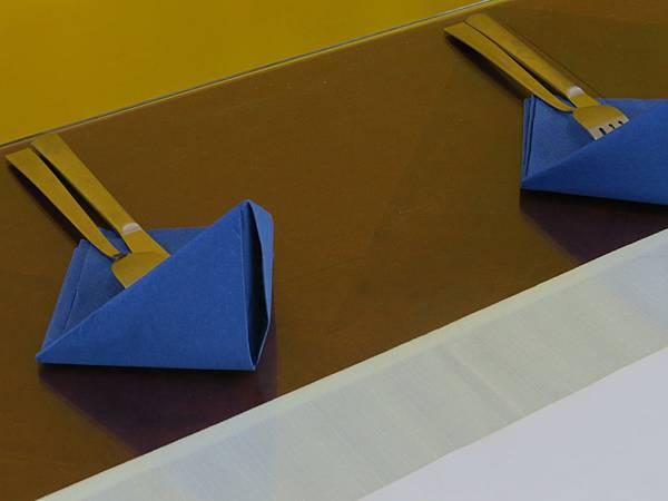 風洋藍餐巾
