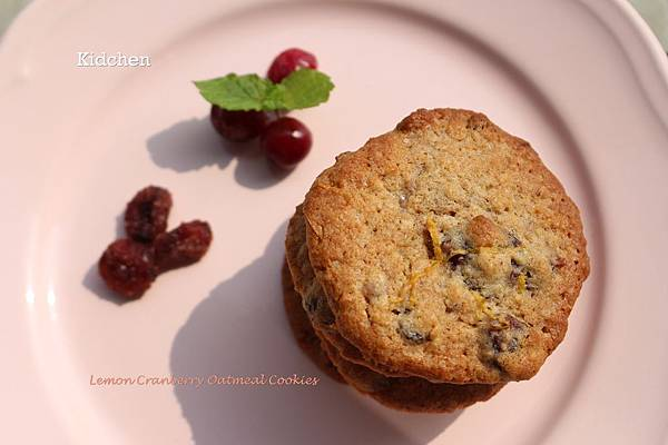 lemon Cranberry Oatmeal Cookies
