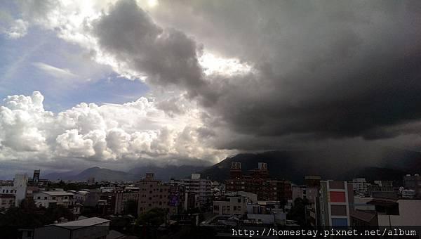 颱風將要來前的天色