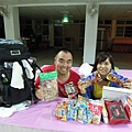 The Japan volunteer bring many Japanese snacks and ingredients ,like Miso 、curry