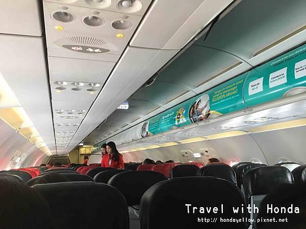 AirAsia亞航飛機機艙