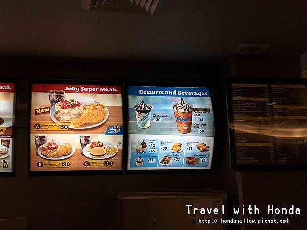 jollibee菲律賓必吃國民速食餐廳菜單價位價格