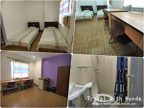 菲律賓宿霧UV語言學校學生宿舍雙人房