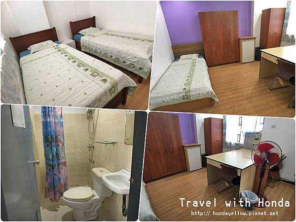菲律賓宿霧UV語言學校學生宿舍環境三人房