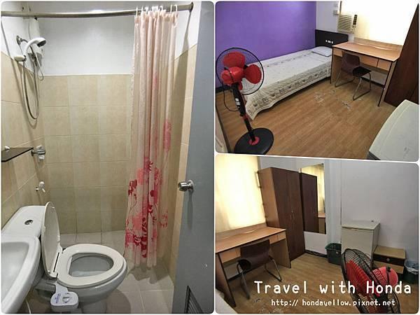 菲律賓宿霧UV語言學校學生宿舍環境單人房