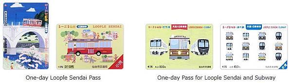 仙台觀光巴士地鐵一日券