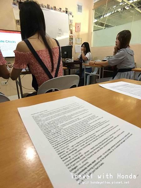 菲律賓宿霧ZAENGLISH語言學校學校上課體驗