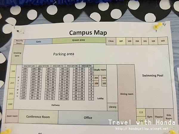 菲律賓宿霧ZAENGLISH語言學校學校外觀地圖