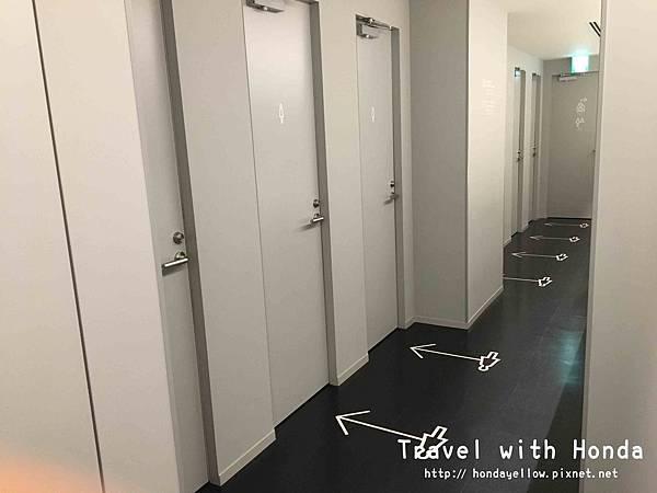 9h nine hours九小時膠囊旅館浴室廁所設施